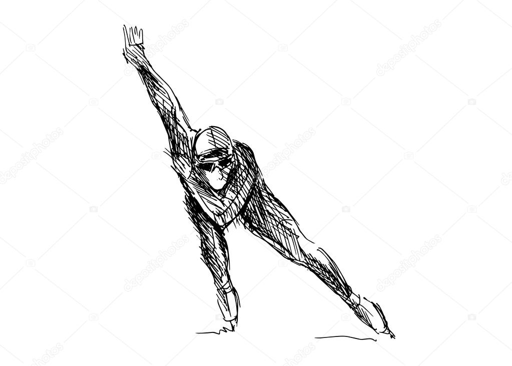 depositphotos 67351897 stock illustration drawing skater
